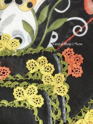 画像5: バルッケシル:大判トゥーオヤスカーフ|ブラック・オレンジイエロー