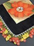 画像2: バルッケシル:大判トゥーオヤスカーフ|ブラック・コーラルイエロー薔薇