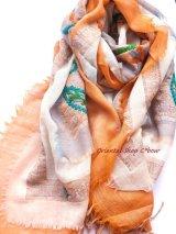 ウール|三重トリプル★手刺繍やわらかストール