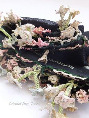 画像1: キュタフヤ・タウシャンル|アンティークイーネオヤスカーフ|シルク糸|水仙
