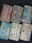画像13: トルコ絨毯柄|三つ折り財布|ターコイズ