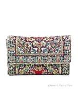 トルコ絨毯柄|三つ折り財布|レッド