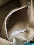 画像8: ナザルボンジュウ柄☆シェニール|大きめバッグ|ターコイズ