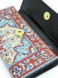 画像3: トルコ絨毯柄|三つ折り 長財布|レッド系・4