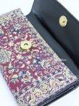 画像3: トルコ絨毯柄 三つ折り 長財布 ワインレッド系