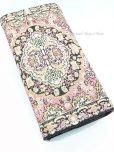 画像2: トルコ絨毯柄|三つ折り 長財布|ライトピンク系