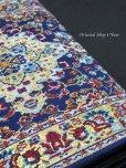 画像6: トルコ絨毯柄|三つ折り財布・ブルー系