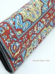 画像4: トルコ絨毯柄|三つ折り 長財布|レッド系・4