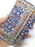 画像4: トルコ絨毯柄|三つ折り財布・ブルー系