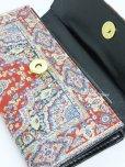 画像3: トルコ絨毯柄|三つ折り 長財布|レッド系・1