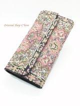 トルコ絨毯柄|三つ折り 長財布|ライトピンク系