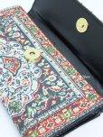 画像3: トルコ絨毯柄|三つ折り 長財布|レッド系・5