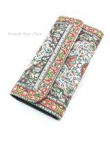 トルコ絨毯柄|三つ折り 長財布|レッド系・5