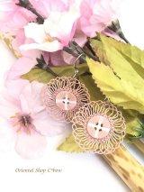 とっても軽い☆イーネオヤピアス|ボタン・花火花|桜貝
