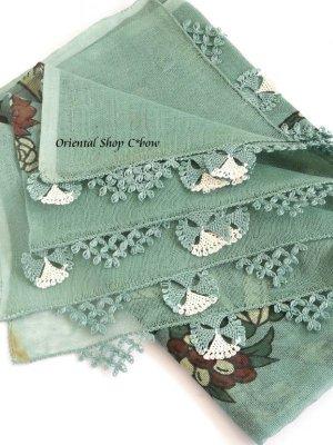 画像1: 東アナトリア・エラズー|アンティークオヤスカーフ|シルク糸イーネオヤ|蝶々