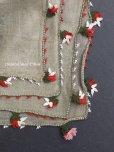 画像1: ブルサ|アンティークオヤスカーフ・シルク糸超細かいイーネオヤ|花付きとうがらし (1)