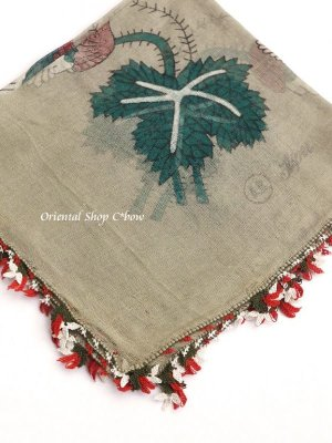 画像3: ブルサ|アンティークオヤスカーフ・シルク糸超細かいイーネオヤ|花付きとうがらし