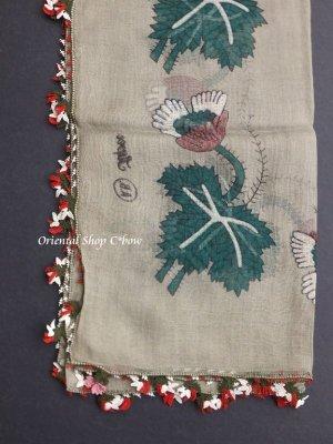 画像4: ブルサ|アンティークオヤスカーフ・シルク糸超細かいイーネオヤ|花付きとうがらし