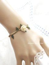 シルクイーネオヤブレスレット|ベリー(紫陽花)|クリーム
