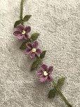 画像2: シルクイーネオヤブレスレット|3つ花|ラベンダー (2)