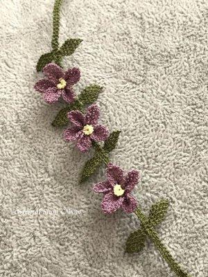 画像2: シルクイーネオヤブレスレット|3つ花|ラベンダー