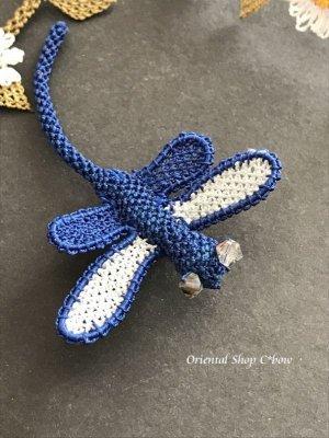 画像3: シルクイーネオヤブローチ|とんぼ|ブルー系