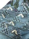 画像2: 東アナトリア・エラズー|アンティークオヤスカーフ|シルク糸イーネオヤ|グレーブルー|つがいのアーモンド