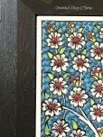 画像2: 特価◇ トルコ★手描きタイル額装|10×20|生命の樹