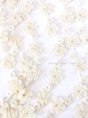画像5: 3連お花☆ボンジュックオヤネックレス クリーム