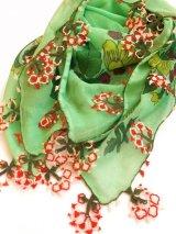 ブルサ:イズニック|アンティークオヤスカーフ|ライトグリーン×レッド