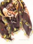 画像2: バルッケシル:大判トゥーオヤスカーフ ダークブラウン 素晴らしいチューリップ
