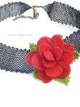 画像5: シルクイーネオヤネックレス 赤いバラのチョーカー