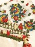 画像4: ナウルハン アンティークイーネオヤスカーフ シルク糸 オフホワイト イチドル 朝顔