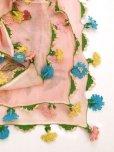 画像5: ベルガマ・コザック地区|木版アンティークオヤスカーフ|シルク糸イーネオヤ|コロナ太陽モチーフ