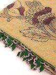 画像2: ブルサ|木版アンティークオヤスカーフ・シルク糸イーネオヤ・細かい|BR12