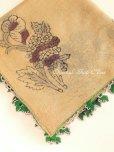 画像6: ブルサ|木版アンティークオヤスカーフ・シルク糸イーネオヤ・細かい|BR12