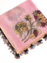 ブルサ:イズニック|木版・アンティークオヤスカーフ|ナイロン糸でもすごく細かいイーネオヤ