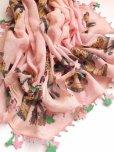 画像14: イズミール・ヴィンテージ 木版アンティークオヤスカーフ シルク糸イーネオヤ ピンク×ピンクグリーン