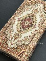 トルコ絨毯柄|ファスナー長財布|ゴールドレッド系