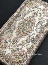 トルコ絨毯柄|ファスナー長財布|アイボリー
