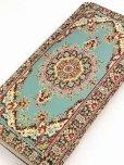 画像2: トルコ絨毯柄|ファスナー長財布|シアン系