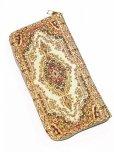 画像3: トルコ絨毯柄|ファスナー長財布|ゴールドレッド系