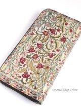 トルコ絨毯柄|ファスナー長財布|カーネーション