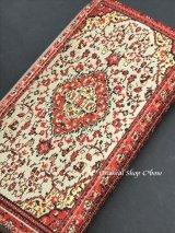 トルコ絨毯柄|ファスナー長財布|レッド系