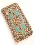 画像3: トルコ絨毯柄|ファスナー長財布|シアン系