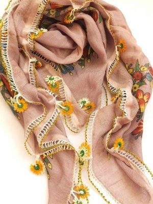 画像1: ナウルハン|アンティークイーネオヤスカーフ|シルク糸|デイジー