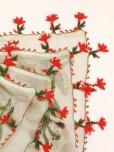 画像6: ブルサ|木版アンティークオヤスカーフ・シルク糸イーネオヤ|アッシュグレー