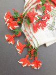 画像3: ブルサ|木版アンティークオヤスカーフ・シルク糸イーネオヤ|アッシュグレー