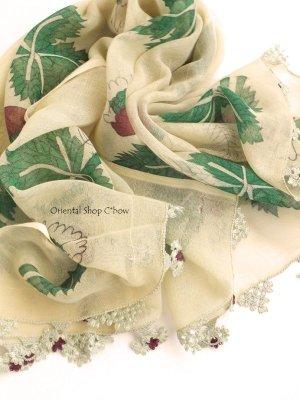 画像1: 東アナトリア・エラズー|アンティークオヤスカーフ|シルク糸イーネオヤ|花瓶
