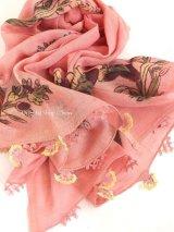 東アナトリア・エラズー|木版アンティークオヤスカーフ|シルク糸イーネオヤ|花のオヤ